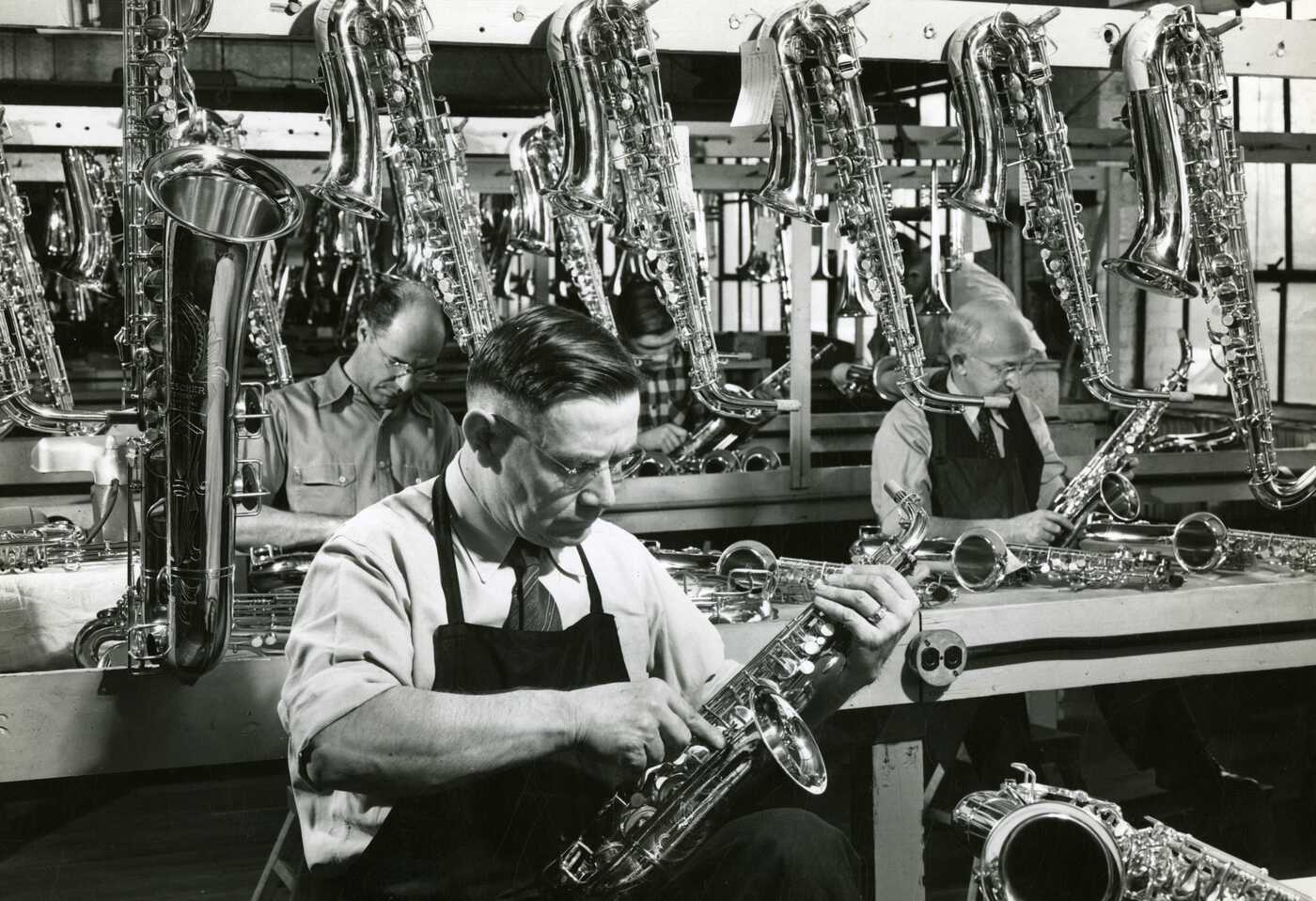 1940s Buescher Factory